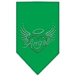Angel Heart Rhinestone Bandana Emerald Green Small