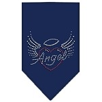 Angel Heart Rhinestone Bandana Navy Blue Small