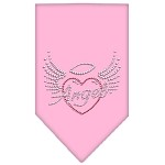 Angel Heart Rhinestone Bandana Light Pink Small