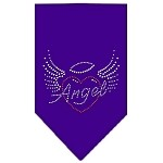 Angel Heart Rhinestone Bandana Purple Small