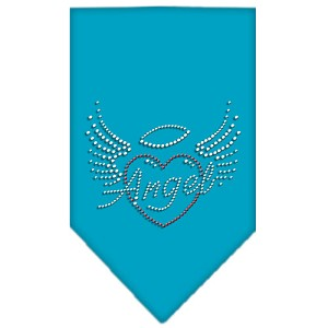 Angel Heart Rhinestone Bandana Turquoise Small