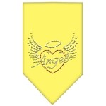 Angel Heart Rhinestone Bandana Yellow Small