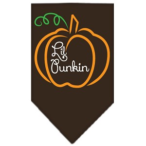 Lil Punkin Screen Print Bandana Brown Large