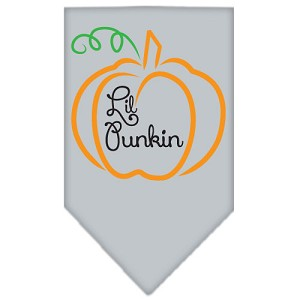 Lil Punkin Screen Print Bandana Grey Small