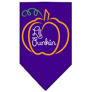 Lil Punkin Screen Print Bandana Purple Large