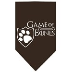 Game of Bones Screen Print Bandana Brown Small