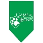 Game of Bones Screen Print Bandana Emerald Green Small
