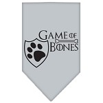 Game of Bones Screen Print Bandana Grey Small