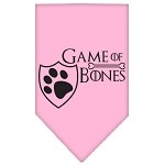 Game of Bones Screen Print Bandana Light Pink Small