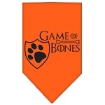 Game of Bones Screen Print Bandana Orange Small