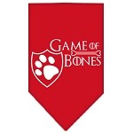 Game of Bones Screen Print Bandana Red Small