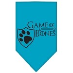 Game of Bones Screen Print Bandana Turquoise Small