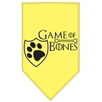 Game of Bones Screen Print Bandana Yellow Small
