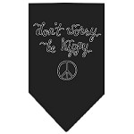 Be Hippy Screen Print Bandana Black Small