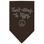 Be Hippy Screen Print Bandana Cocoa Small
