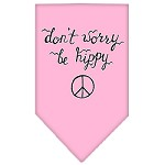 Be Hippy Screen Print Bandana Light Pink Small