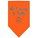 Be Hippy Screen Print Bandana Orange Small