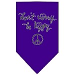Be Hippy Screen Print Bandana Purple Small
