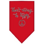 Be Hippy Screen Print Bandana Red Small