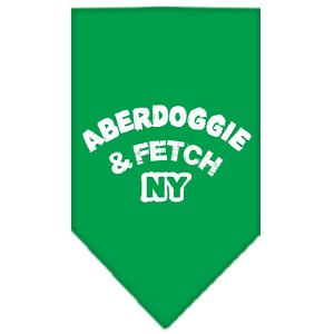 Aberdoggie NY Screen Print Bandana Emerald Green Small