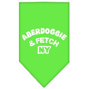 Aberdoggie NY Screen Print Bandana Lime Green Large
