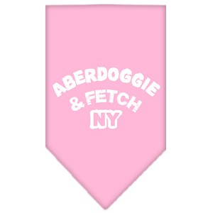 Aberdoggie NY Screen Print Bandana Light Pink Small