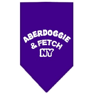 Aberdoggie NY Screen Print Bandana Purple Small