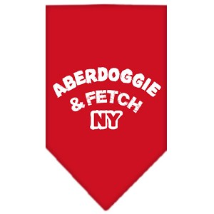 Aberdoggie NY Screen Print Bandana Red Large