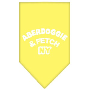 Aberdoggie NY Screen Print Bandana Yellow Small