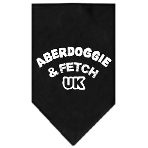 Aberdoggie UK Screen Print Bandana Black Large