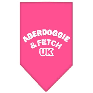 Aberdoggie UK Screen Print Bandana Bright Pink Large