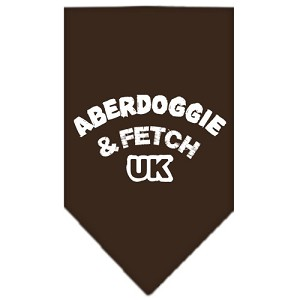 Aberdoggie UK Screen Print Bandana Cocoa Small