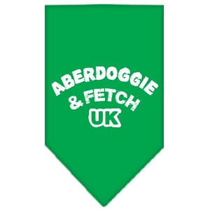 Aberdoggie UK Screen Print Bandana Emerald Green Small