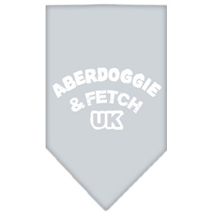 Aberdoggie UK Screen Print Bandana Grey Large