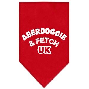 Aberdoggie UK Screen Print Bandana Red Large