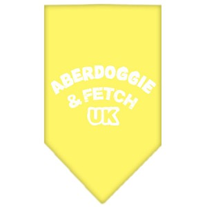 Aberdoggie UK Screen Print Bandana Yellow Large