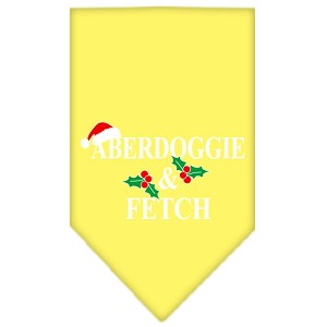 Aberdoggie Christmas Screen Print Bandana Yellow Small