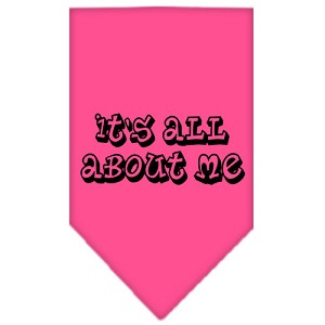 It's All About Me Screen Print Bandana Bright Pink Large