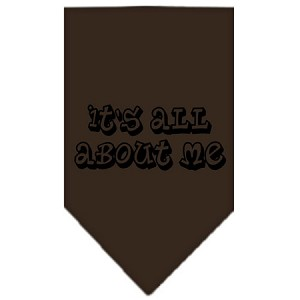 It's All About Me Screen Print Bandana Cocoa Large