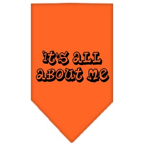 It's All About Me Screen Print Bandana Orange Large