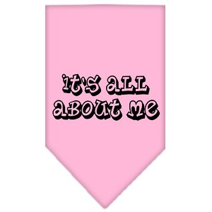 It's All About Me Screen Print Bandana Light Pink Small
