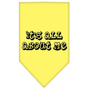 It's All About Me Screen Print Bandana Yellow Small