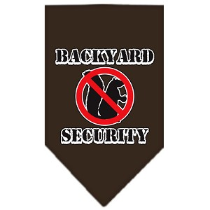Backyard Security Screen Print Bandana Cocoa Small