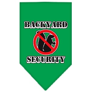Backyard Security Screen Print Bandana Emerald Green Large
