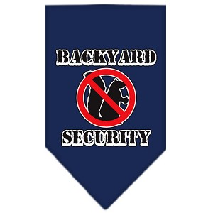 Backyard Security Screen Print Bandana Navy Blue large