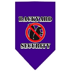 Backyard Security Screen Print Bandana Purple Small
