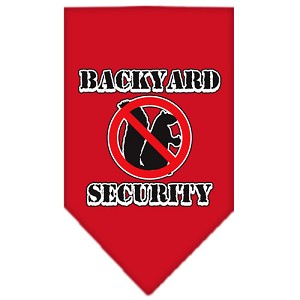 Backyard Security Screen Print Bandana Red Large