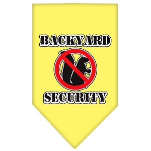 Backyard Security Screen Print Bandana Yellow Small