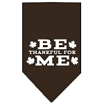 Be Thankful for Me Screen Print Bandana Cocoa Large