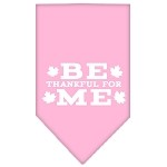 Be Thankful for Me Screen Print Bandana Light Pink Small